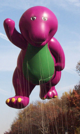 Barney during macy's parade