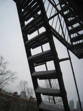 Fire escape steps