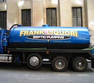 Cropped septic pumping truck