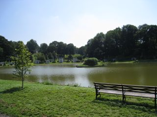 Sylvan lake at green-wood cemetery