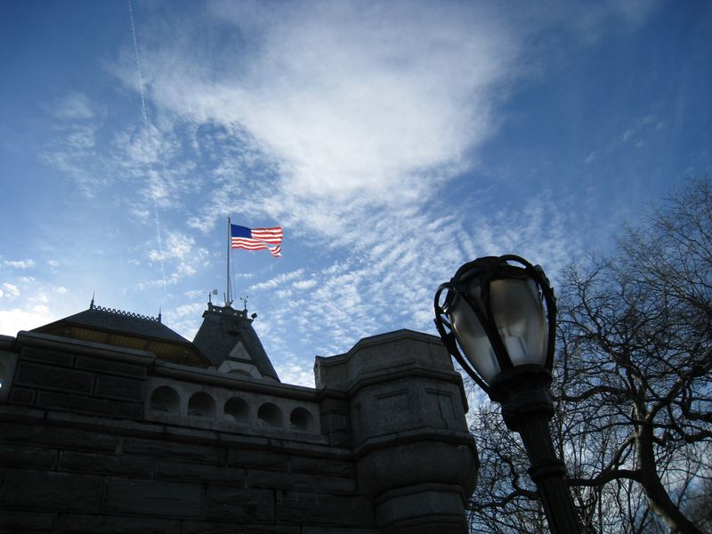 Ripped flag belvedere castle